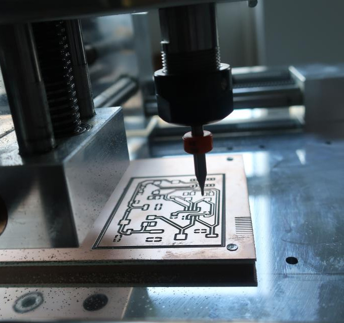 Fraisage d'un circuit imprimé