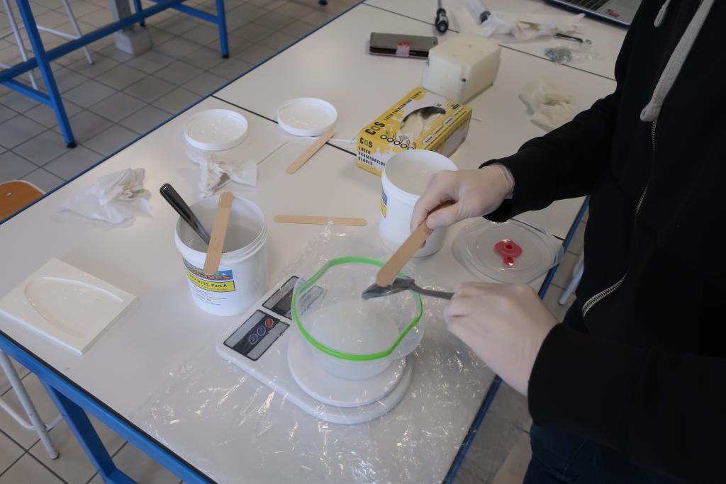 expérimentation robot mou